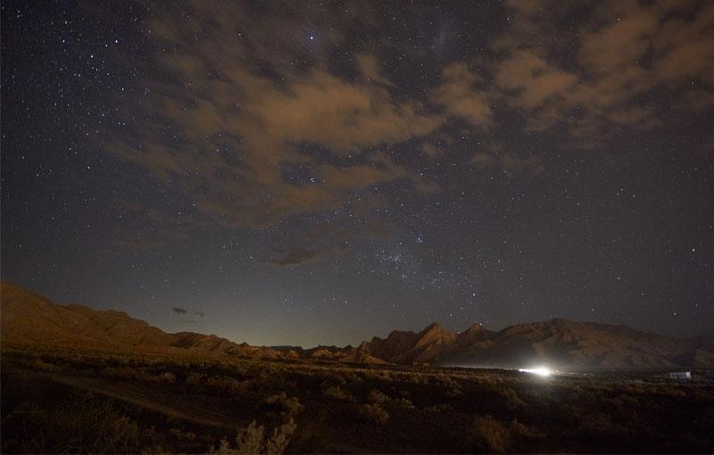 Senderos y estrellas en el Cerro Arco
