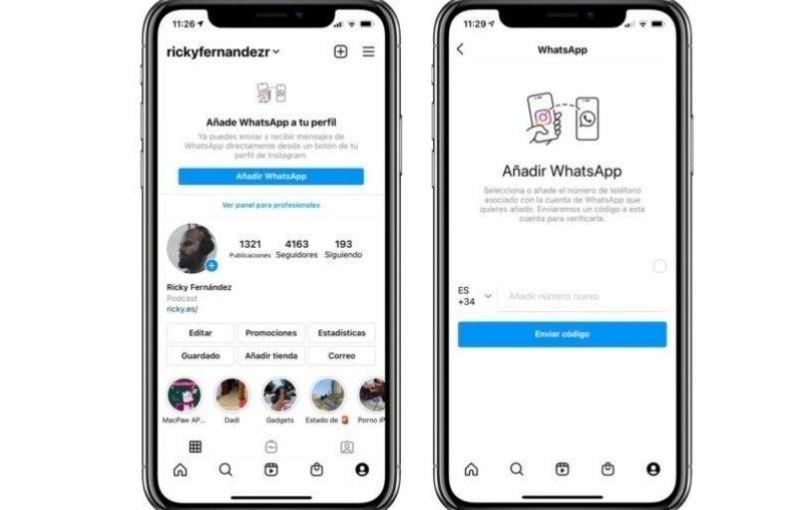 WhatsApp e Instagram se unifican para mandar mensajes