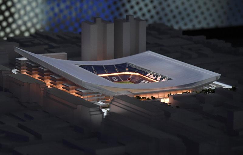 La maqueta del estadio en Boedo, el sueño azulgrana