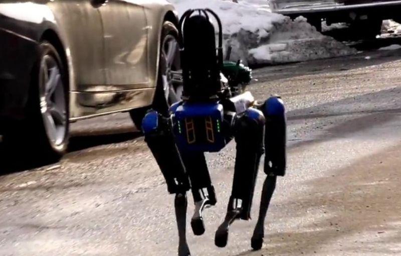 Perro robot Spot, ahora es un civil que patrulla las calles