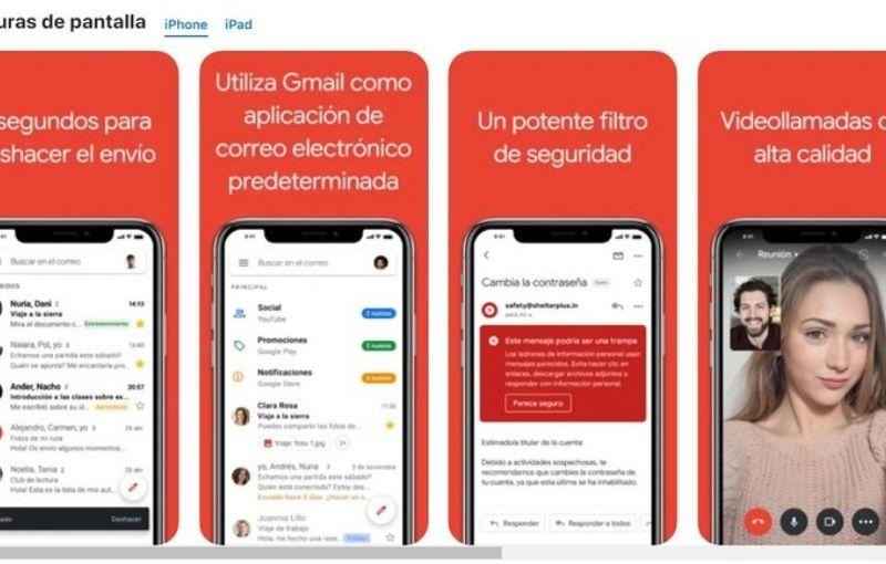 Gmail para iOS ahora incluye las etiquetas de privacidad