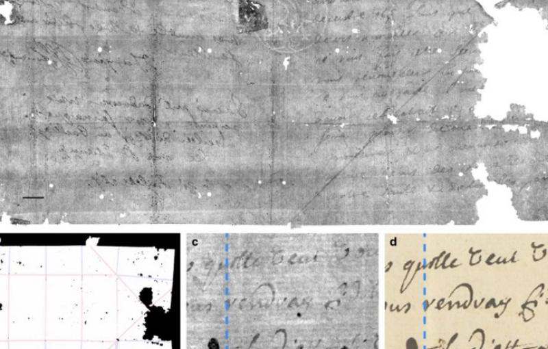 Con rayos X leyeron una carta sin abrir sellada por 300 años