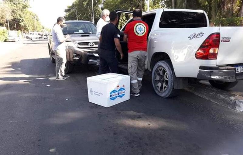 Llevaba vacunas en su camioneta en Corrientes