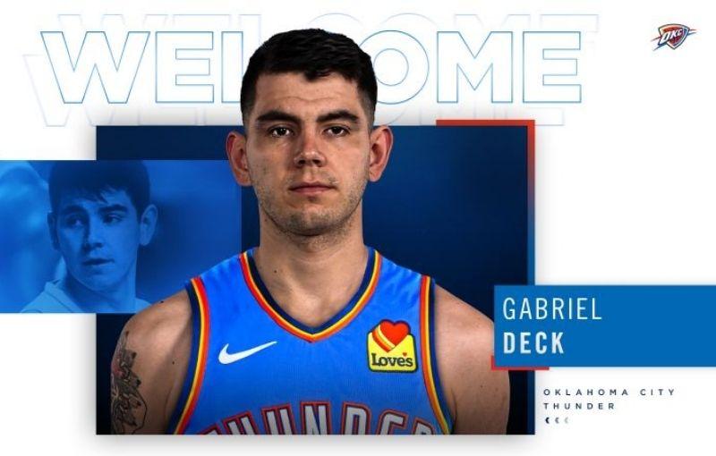 Gabi Deck se puso la casaca del Oklahoma City Thunder
