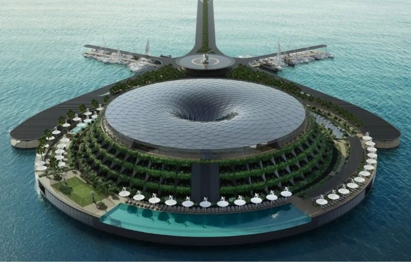 Ecológico y flotante, un lujo de 5 estrellas