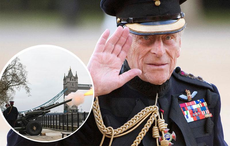 Cañones para homenajearlo por todo el Reino Unido